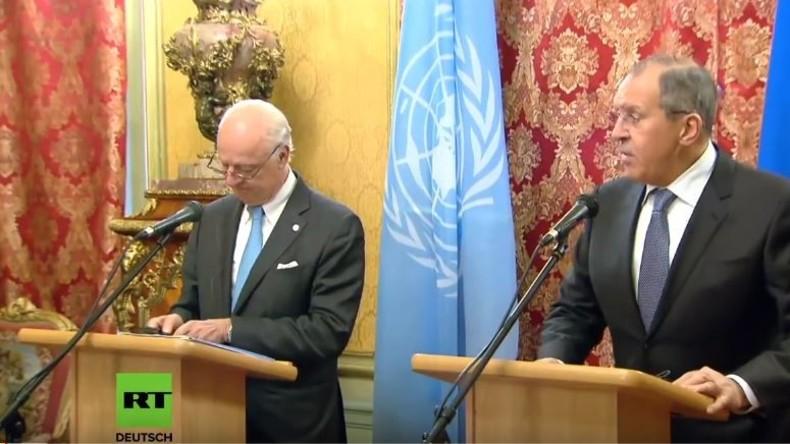LIVE: Lawrow und UN-Sondergesandter für Syrien de Mistura geben gemeinsame Pressekonferenz