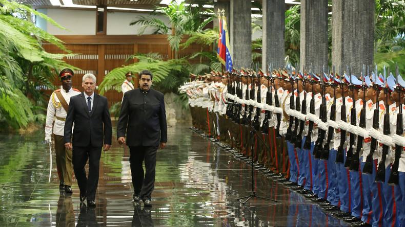 Erster Akt als Kubas Präsident: Miguel Díaz-Canel empfängt Nicolás Maduro
