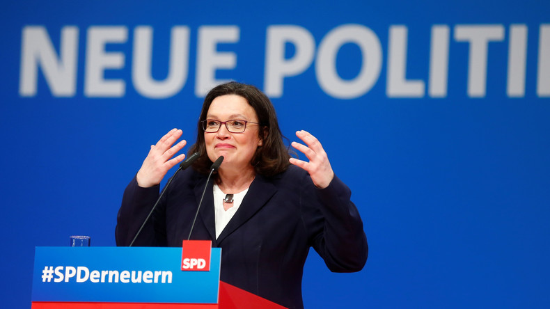 Sonderparteitag: SPD wählt mit nur 66,3 Prozent Andrea Nahles zur neuen Vorsitzenden