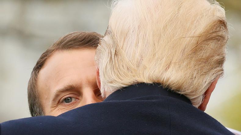 Freundschaft oder Rivalität? Trumps und Macrons eigenartige Körpersprache (VIDEO)