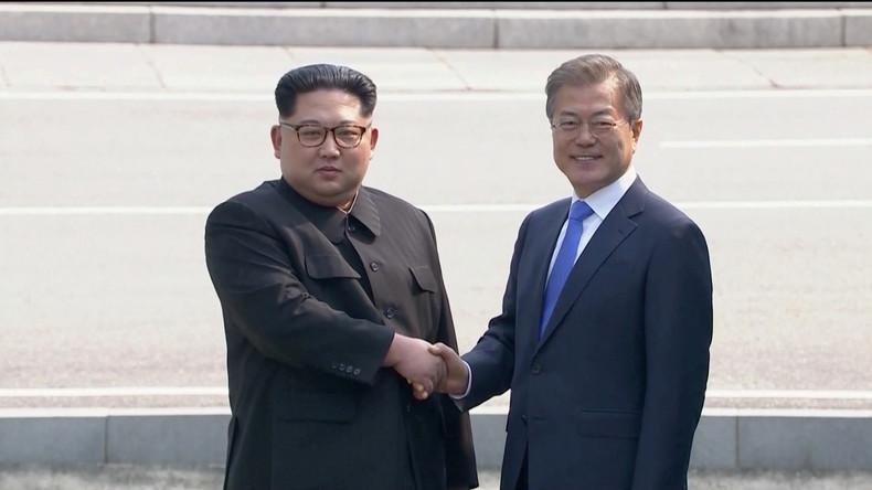 Historischer Handschlag: Kim Jong Un auf Staatsbesuch in Südkorea