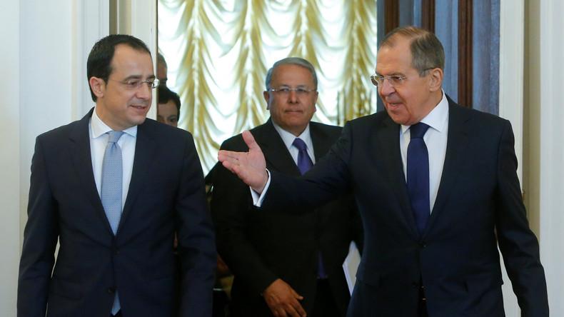 Video: Lawrow hält Pressekonferenz mit dem Außenminister Zyperns