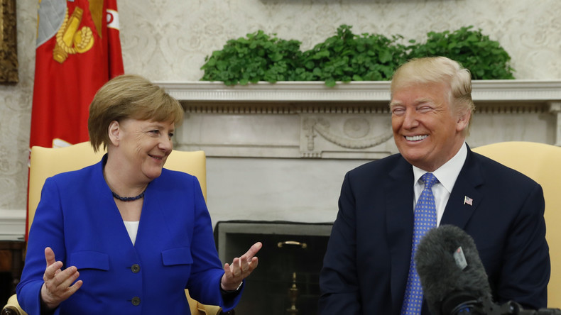 LIVE: Gemeinsame Pressekonferenz von Kanzlerin Merkel und US-Präsident Trump