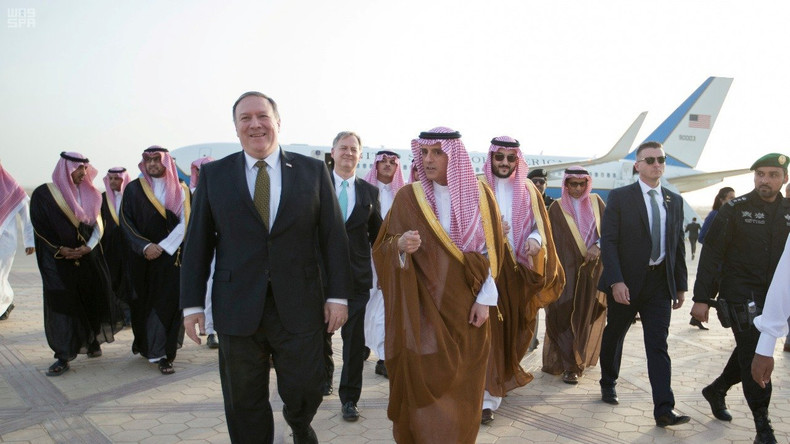 Nach Landung in Saudi-Arabien: US-Außenminister Pompeo ruft zu neuen anti-iranischen Sanktionen auf