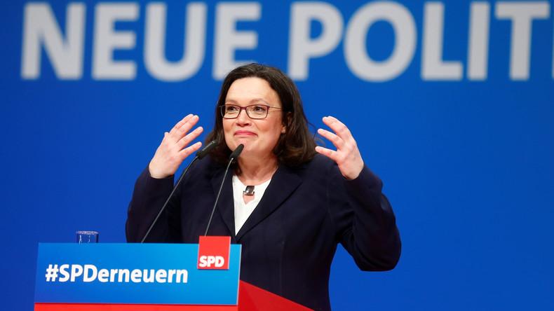 Neue Forsa-Umfrage: SPD sackt unter Nahles auf 17 Prozent ab