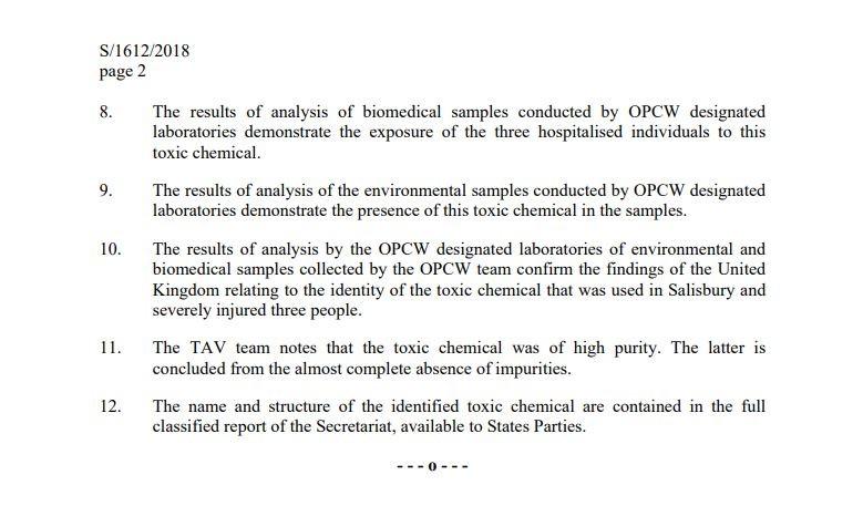 Skripal-Analyse durch OPCW abgeschlossen: Name und Struktur des Giftes werden geheim gehalten