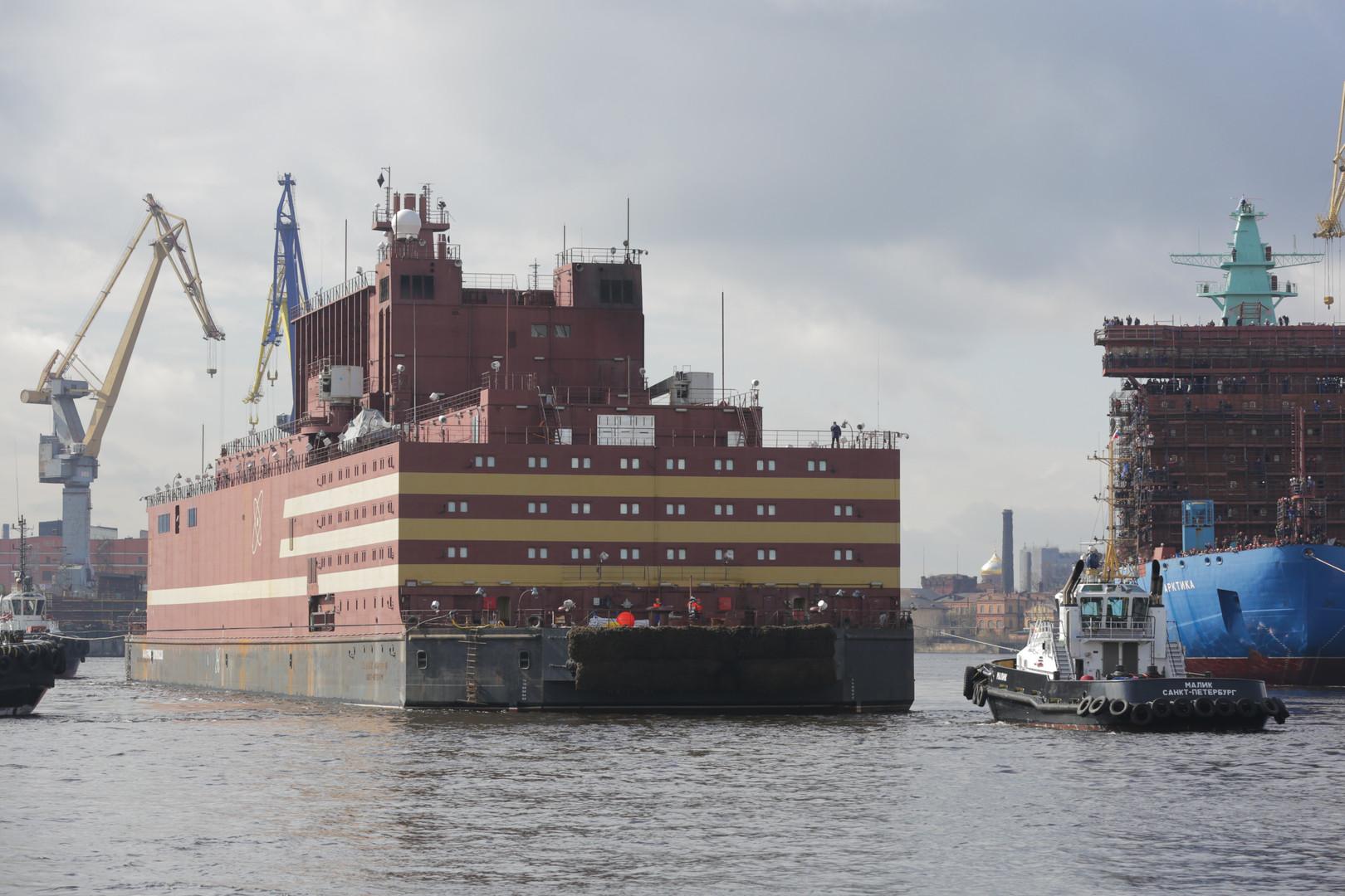 """""""Tschernobyl auf Eis"""": Russlands schwimmendes Atomkraftwerk versetzt Westen in Angst und Schrecken"""