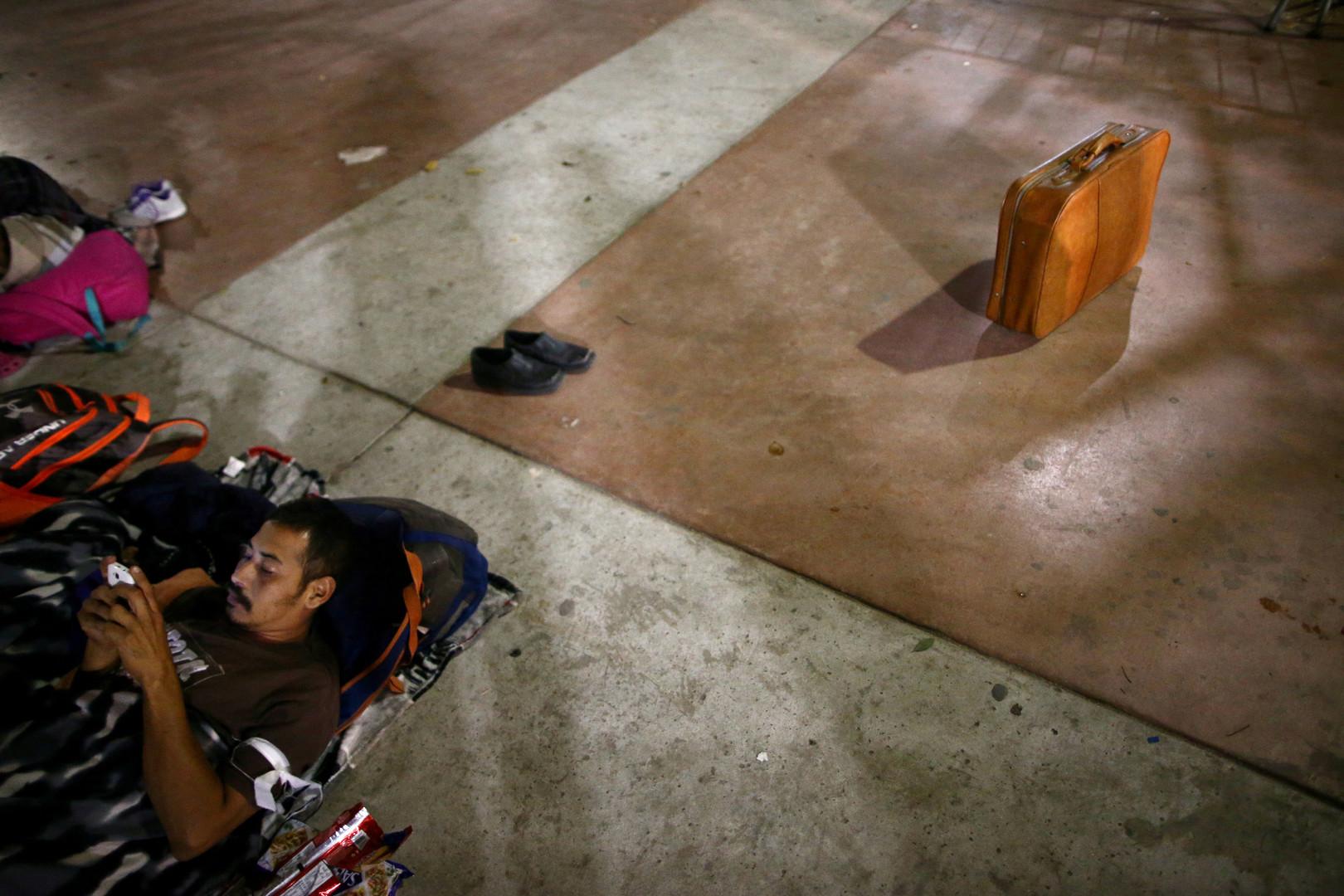 Migranten harren aus, bevor sie Asyl in den USA beantragen können, Tijuana, Mexiko, 29. April 2018.