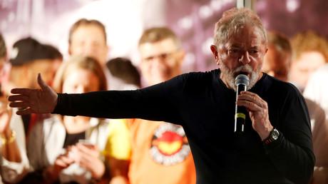 Ex-Präsident Lula da Silva während einer Wahlveranstaltung in Curitiba am 28. März 2018.