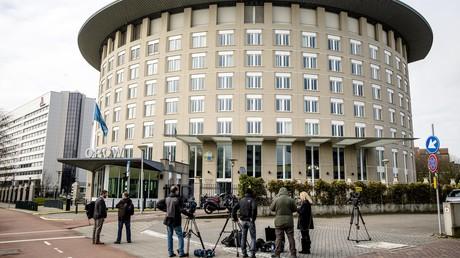 Das Hauptquartier der Organisation für ein Verbot chemischer Waffen (OPCW) in Den Haag am 4. April 2018.
