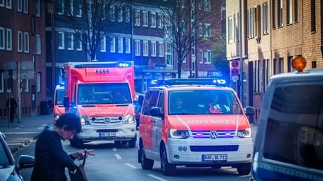 Rettungskräfte am Sonnabend in Münster