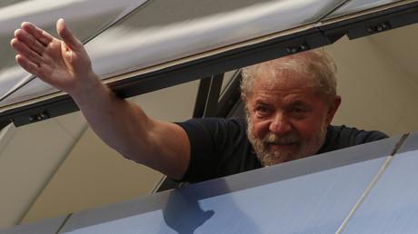 Luiz Inácio Lula da Silva kurz bevor er sich den Behörden stellte.