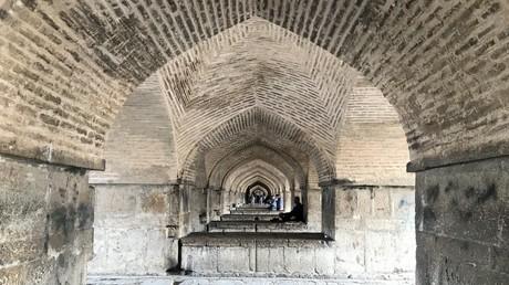Chadschu Brücke in Esfahan, Iran, März 2018.