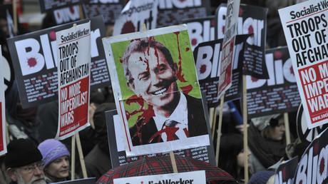 Wegen seiner Lügen im Zusammenhang mit dem Irak-Krieg kam es in Großbritannien immer wieder zu Protesten gegen Tony Blair.