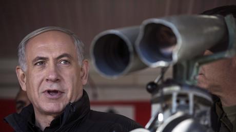 Benjamin Netanjahu in dem von Israel kontrollierten Teil der Golanhöhen, 4. Februar 2015.