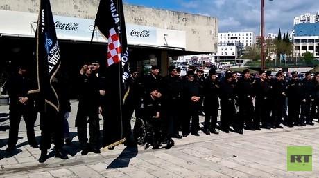 Kundgebung von Nationalisten in Split anlässlich des Gründungstages des