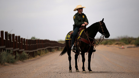 Amerikanischer Grenzpolizist, New Mexico, USA, 9. April 2018.