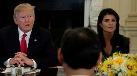 US-Präsident Trump und die US-Botschafterin bei den Vereinten Nationen, Nikki Haley