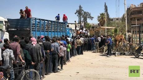 Duma: Hilfslieferungen für die Einwohner treffen ein