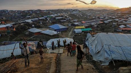 Geflohene Rohingya in einem Flüchtlingslager in Bangladesch