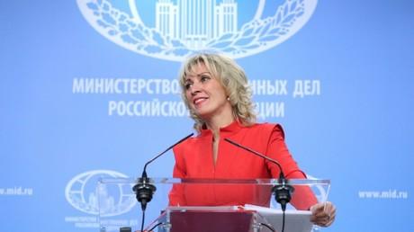 Maria Sacharowa, Moskau, Russland, 19. April 2018.