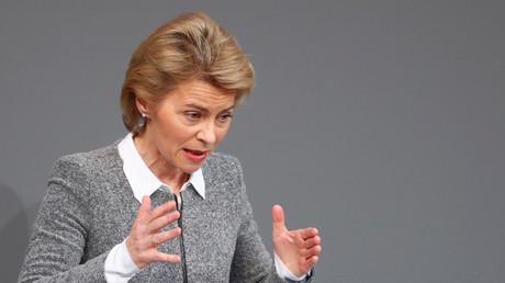 Die deutsche Verteidigungsministerin Ursula von der Leyen