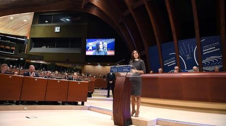 Symbolbild - Ansprache der dänischen Kronprinzessin Mary im Europa-Rat