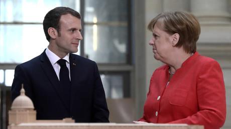 Emmanuel Macron und Angela Merkel in Berlin. In die Beziehungen zwischen Deutschland und Frankreich schleichen sich immer öfter gegensätzliche Positionen.