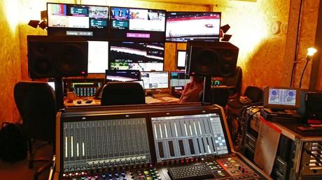 Das Übertragungscenter von ARD und ZDF bei der Winterolympiade