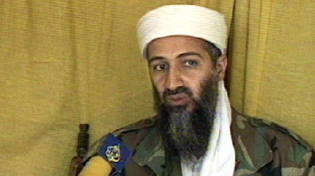 Archivbild. Osama bin Laden im Interview mit Al Dschasira.