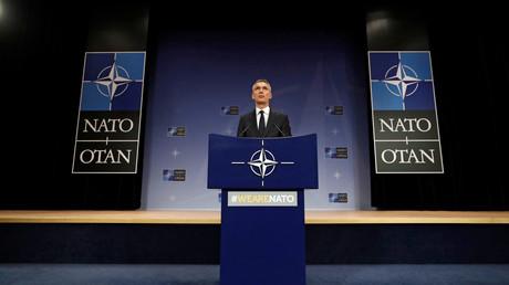 NATO-Generalsekretär Jens Stoltenberg auf dem Treffen des transatlantischen Militärbündnisses in Brüssel, Belgien