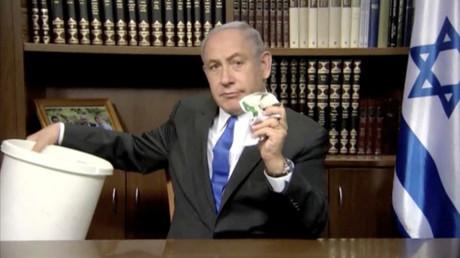 Bild aus einer Videonachricht Benjamin Netanjahus, 7. Mai 2017.