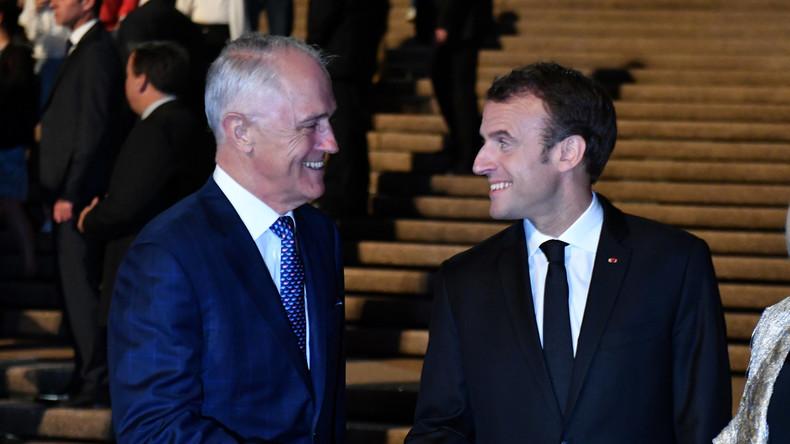 Emmanuel Macron beginnt Besuch in Australien