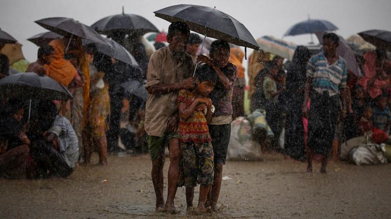 Monsun ramponiert Flüchtlingszelte der Rohingya in Bangladesch