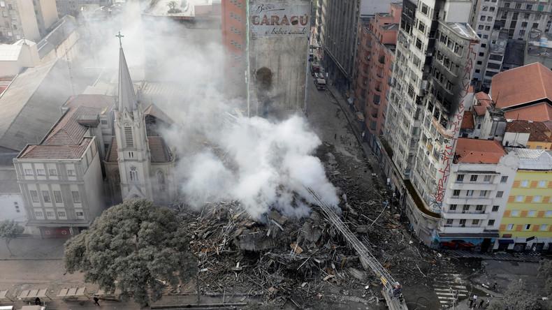 Mindestens 45 Vermisste nach Hochhausbrand in São Paulo - Familienstreit der Auslöser?