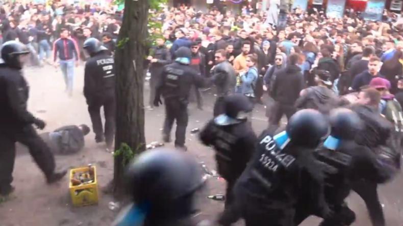 Alle Jahre wieder: Berlin-Kreuzberg versinkt am 1. Mai erneut im Chaos