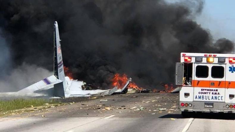 US-Militärflugzeug C-130 in Georgia abgestürzt, mehrere Insassen tot