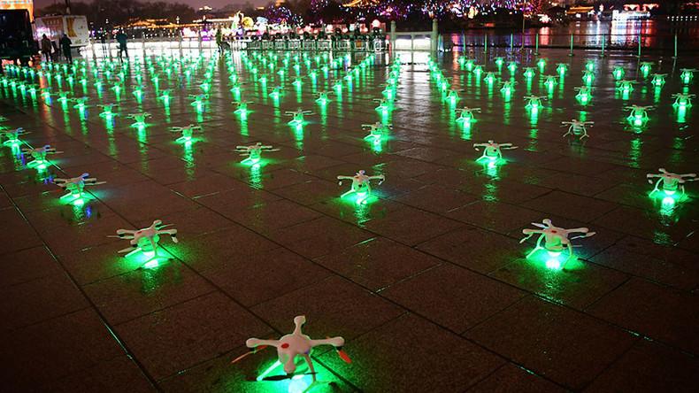 Neuer Weltrekord: Himmel über China mit 1.374 tanzenden Drohnen erleuchtet