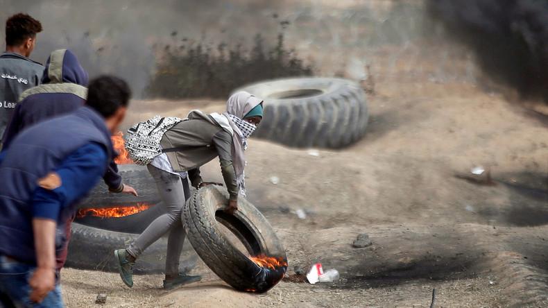 Zehn Palästinenser bei Protesten an Gaza-Grenze verletzt