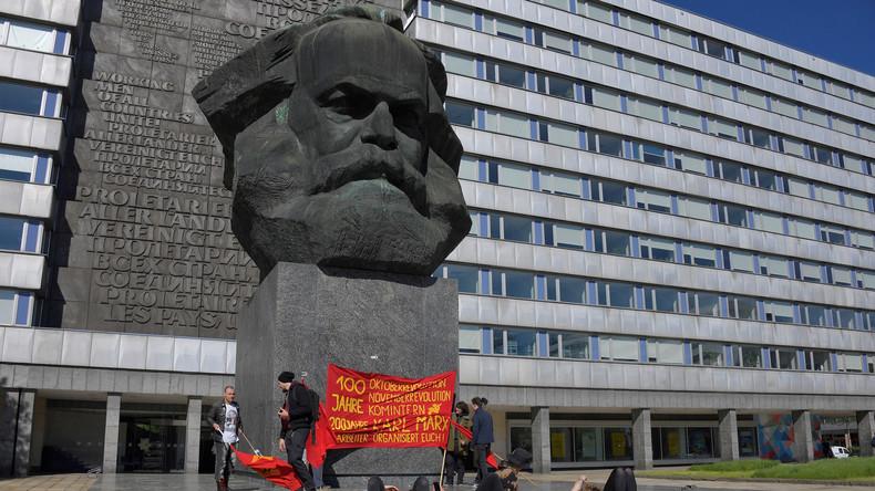Karl Marx ergreift zu seinem 200. Geburtstag in Chemnitz selbst das Wort
