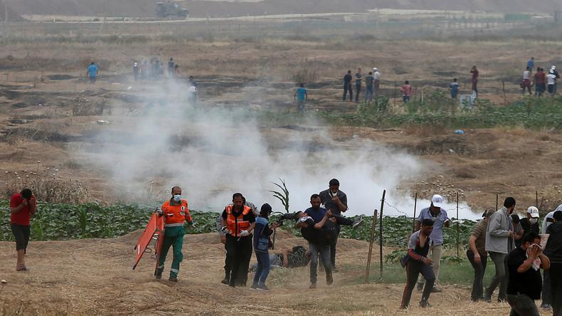 LIVE Proteste im Gaza Streifen –