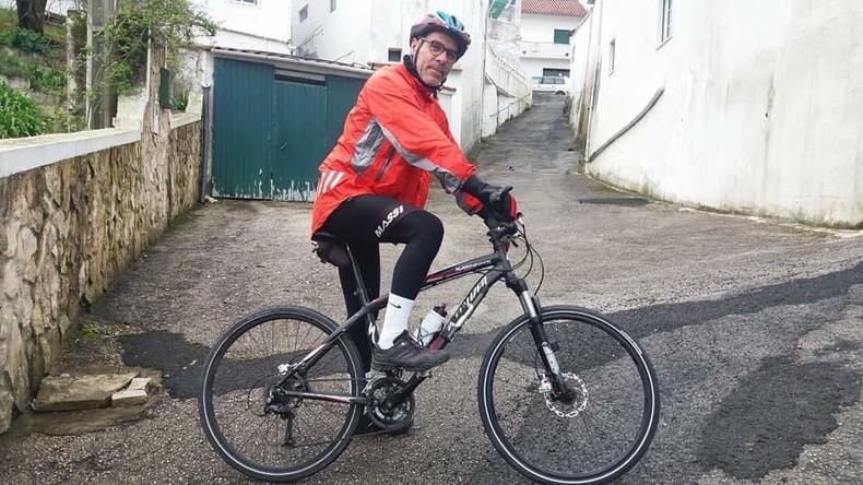 Von Alenquer bis Moskau: Portugiese startet mit Fahrrad zu Fußball-WM 2018 in Russland