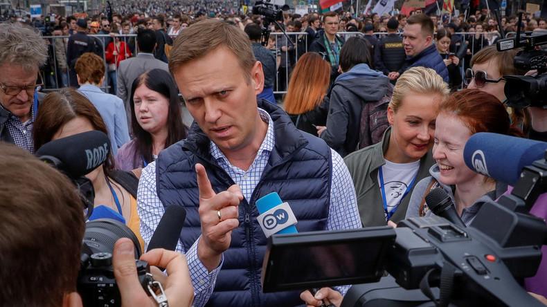 LIVE: Nawalny-Unterstützer treffen sich zu nicht genehmigter Kundgebung in Moskau