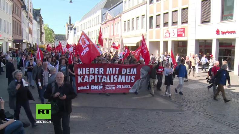Deutschland: Proteste zum 200. Geburtstag in der Karl-Marx-Heimatstadt Trier