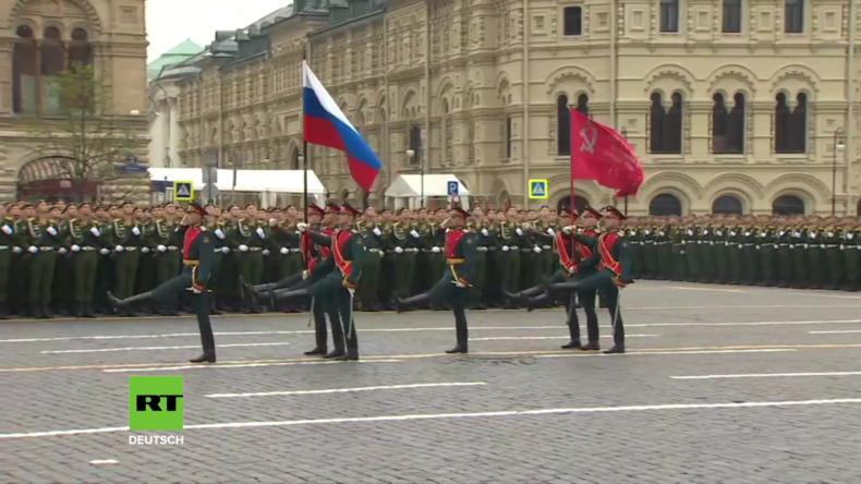 Russland: Generalprobe für die Sieges-Parade auf dem Roten Platz
