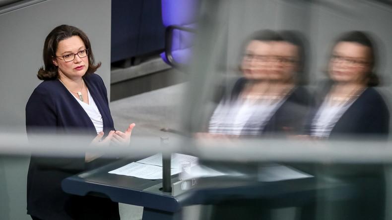 Der Nahles-Faktor: SPD hat nur noch halb so viel Rückhalt wie CDU
