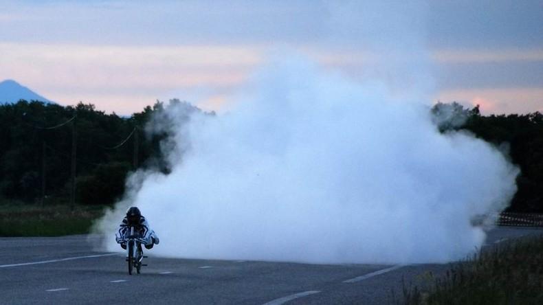 Mit 300 Sachen auf Raketenfahrrad: Französischer Extremfahrer verunglückt tödlich bei Rekordversuch