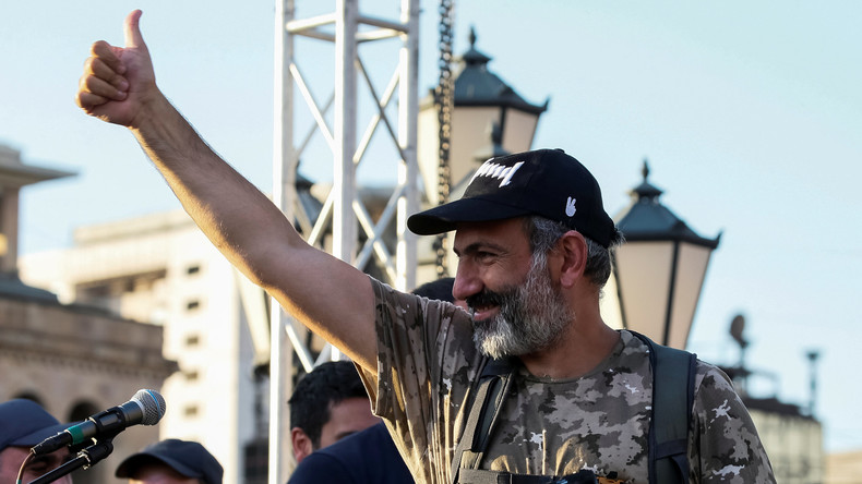 Armenischer Protestführer Paschinjan zum Premierminister gewählt