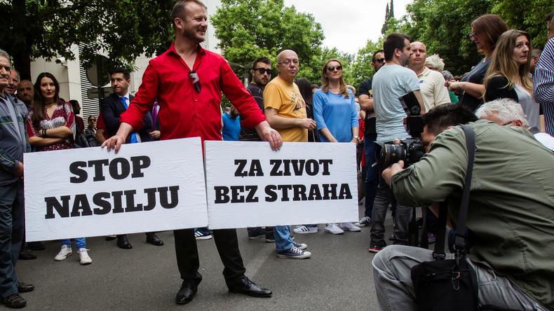 Proteste nach Attacke auf Enthüllungsjournalistin in Montenegro