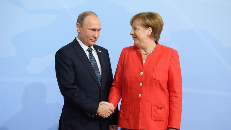 Putin telefoniert mit Merkel: Themen Iran, Syrien und Ukraine